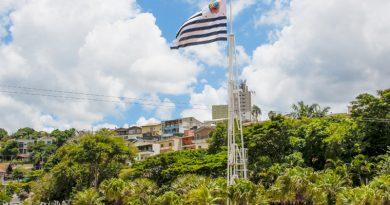 Bandeira e mastro do Lago do Major são substituídos