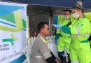 Gripe: vacinação de caminhoneiros acontece em base em Atibaia da Rota das Bandeiras