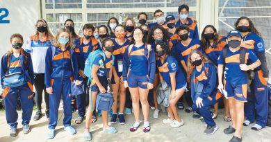 Natação Atibaia marca presença em Santos