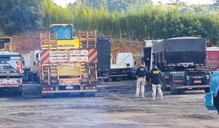 PRF descobre irregularidades em pátio contratado e lacra atividades