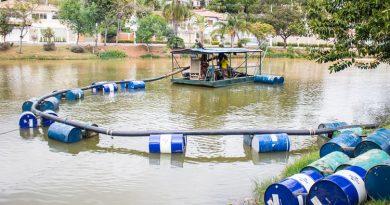 Prefeitura intensifica desassoreamento no Lago do Jardim Paulista