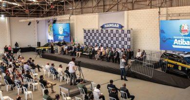Único no Estado, hangar de operações da PRF é inaugurado em Atibaia